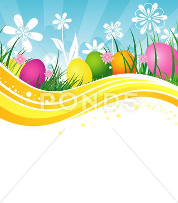 Stock Illustration of easter template