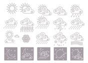 20 weather icons Stock Illustration