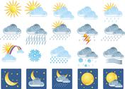 20 weather icons Stock Illustration