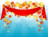 Autumn leafs back Stock Illustration