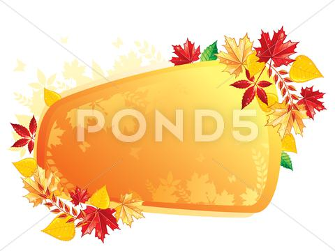 Stock Illustration of autumn leafs back