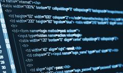 Computer code html Stock Photos