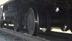 Train going by in slow motion Stock Footage