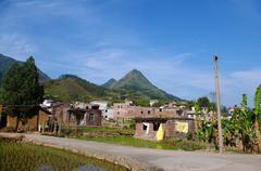 Beautiful village of southwest chinese pro Guangdong - stock photo