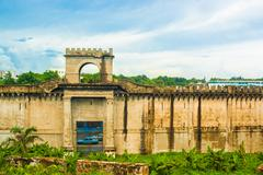 walls of the fortaleza ozama - stock photo