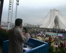 Iran 48. President Ahmadinejad Stock Footage