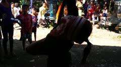 Gay fire breather - stock footage