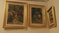 Old paintings Stock Footage