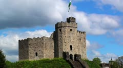 Cardiff Castle - stock footage
