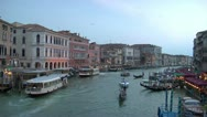 Stock Video Footage of Grand Canal from the Rialto.Evening.Venice.Italy.