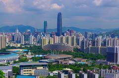 South chinese city Shenzhen, with great development now Stock Photos