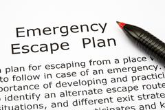 emergency escape plan - stock photo