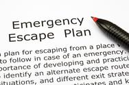 Stock Photo of emergency escape plan