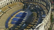 Stock Video Footage of Pula aerial Arena
