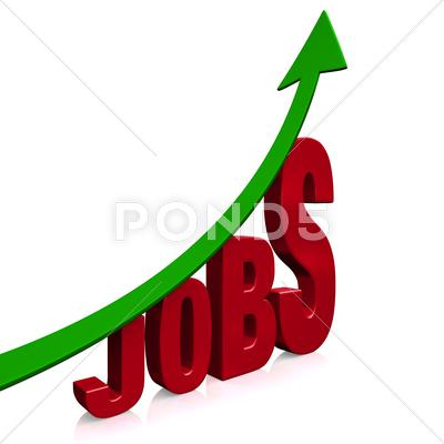 Stock Illustration of dramatic job growth
