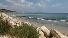 Beautiful Coastline Scenery, Remote Beach, Perfect Vacation Destination Stock Footage