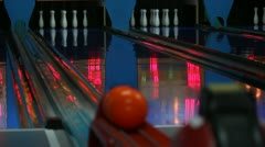Bowling 5 Stock Footage