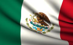 flying flag of mexico . all countries collection . - stock illustration