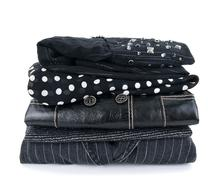 Fashionable black clothes Stock Photos