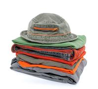 Colorful casual clothes and hat Stock Photos