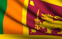 Flying flag of sri lanka . all countries collection . Stock Illustration