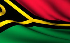 flying flag of vanuatu . all countries collection . - stock illustration
