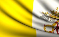 Flying flag of vatican city . all countries collection . Stock Illustration