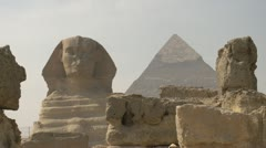 History & culture, Egypt pyramid and sphinx, medium shot, #2 Stock Footage