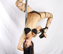 Pole acrobat Stock Photos
