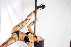 Pole acrobat Stock Photos