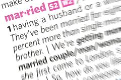 married word - stock photo