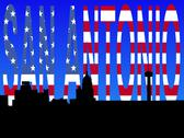 San antonio with  flag text Stock Illustration