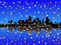 Miami syksyllä Piirros