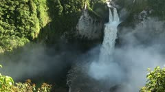 San Rafael Falls, The largest waterfall in Ecuador, high definition, includes Stock Footage