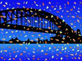 Stock Illustration of sydney harbour bridge in autumn