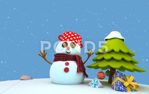 Stock Illustration of Snowman Gifts.jpg