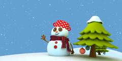 Snowman.jpg - stock illustration
