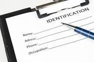 Stock Photo of identification form