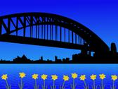 Stock Illustration of sydney harbour bridge in spring