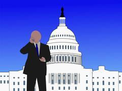 Senator on phone Stock Illustration