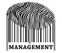 management on barcode - stock photo