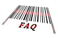 Faq on barcode Stock Illustration