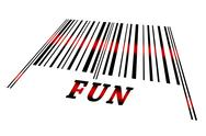 Fun on barcode Stock Illustration