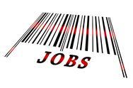 Jobs on barcode Stock Illustration