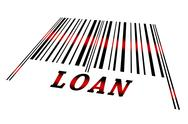 Loan on barcode Stock Illustration