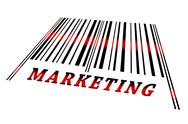 Marketing on barcode Stock Illustration