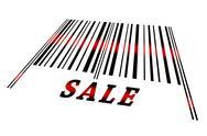Sale on barcode Stock Illustration