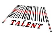 Talent on barcode Stock Illustration