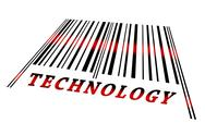 Technology on barcode Stock Illustration