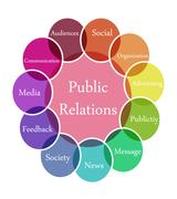 public relation illustration - stock illustration